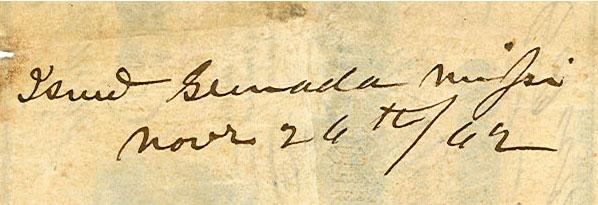 Grenada Ms Nov 26 1862