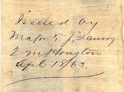 Houston Tx Apr 18 1863 Scurry QM