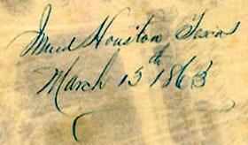 Houston Tx Mar 13 1863
