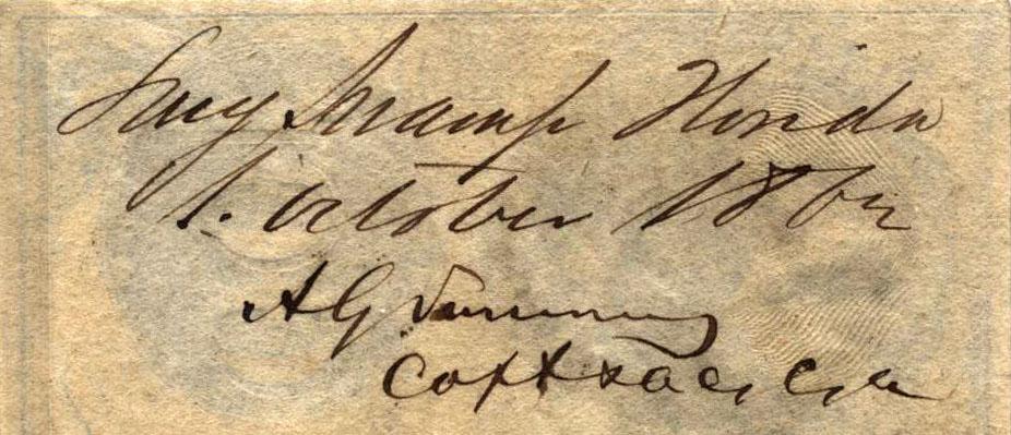 Long Swamp Florida Oct 1 1862