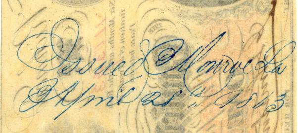 Monroe Blue Ink 28 April 1863