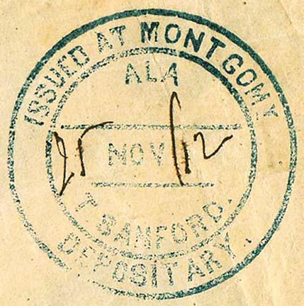 Montgomery Ala TSanford 25 Nov 1862