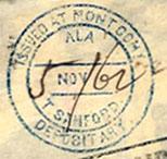 Montgomery Ala TSanford Nov 5 1862