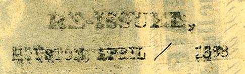 ReIssued Houston April 1863