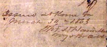 Rome Georgia Hamilton Mar 30 1863
