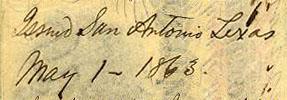 San Antonio Tx May 1 1863