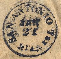 San Antonio Tx Post Mark Jan 21 1863
