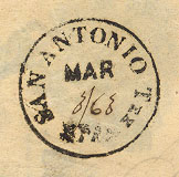 San Antonio Tx PM March 3 1863