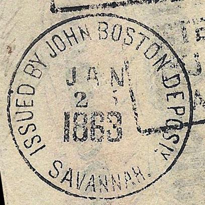 Savannah Ga JohnBoston Jan 25 1863