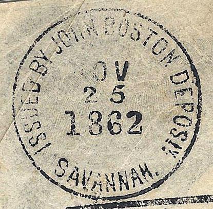 Savannah Ga JohnBoston Nov 25 1862