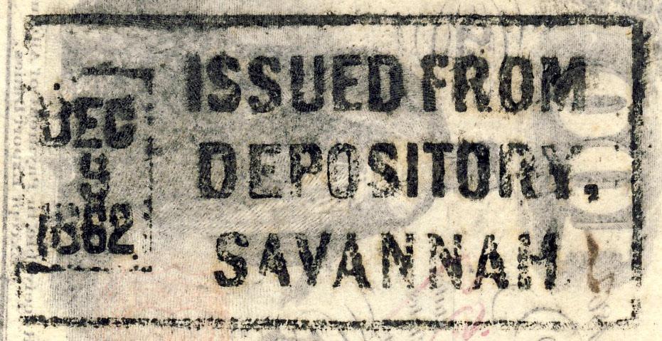 Depository Savannah Dec 9 1862